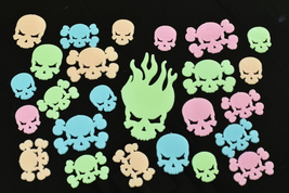 24 Piece Glow in the Dark Multicolor Skulls - $7.95