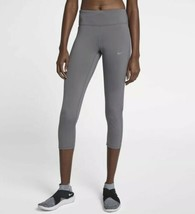 Nike Racer Running Corto Leggings XS Gris Malla Capris Pantalones 890365 036 - $31.45