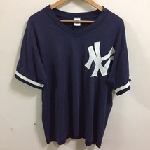 Vintage New York Yankees Shirt Size L Made In USA Russell Athletic Blue ... - $29.99