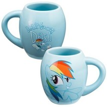My Little Pony Rainbow Dash 18 oz Illustrated Blue Ceramic Oval Mug NEW ... - $9.74