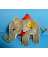 Vintage Steiff Toy Elephant Stuffed Animal Germany - $135.00