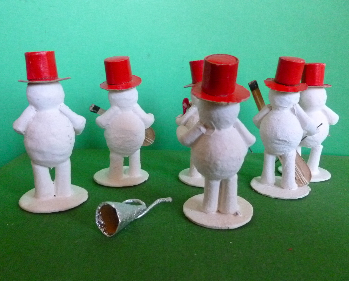 Christmas Snowman Band in Original Box Made in Japan 1950