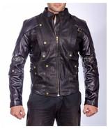 New Style Real Lambskin Leather Replica Men  Biker Leather Jacket - $145.00 - $160.00