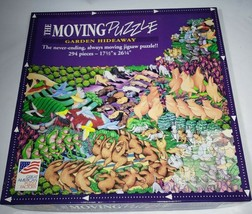 The Moving Puzzle Garden Hideaway 294 Piece Never Ending Jigsaw Puzzle V... - $12.95