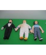 Vintage Three Stooges Dolls Complete Set of Moe Larry Curly Toys 1999 - £17.77 GBP