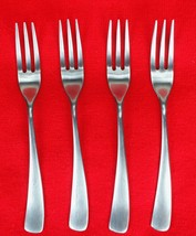 "4X Salad Forks Studio William Larch-Satin Stainless Curved Flatware 7 3/8"" Fork - $58.41"