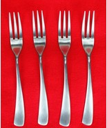 4X Salad Forks Studio William Larch-Satin Stainless Curved Flatware 7 3/... - $58.41