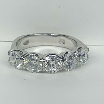 2.50 Ct Diamond 14K White Gold 5 Stone Wedding Band - £3,177.81 GBP