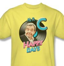 Happy Days T-shirt Mr.C retro vintage 70's TV show 100% cotton yellow tee cbs988 image 2