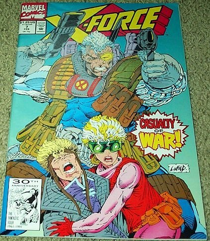 X-Force Casualty of War No. 7 Feb 1992 (Vol. 1) [Comic] [Jan 01, 1992] Fabian Ni