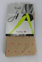 Hanes Double Dot Tights Nude Coral 0C251 - $3.59