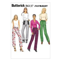 Butterick Patterns B6137 Misses' Pants Sewing Template, Size A5 (6-8-10-12-14) - $14.70