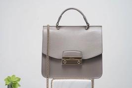 FURLA Julia Mini Top Handle Bag Grey Authentic - $265.00
