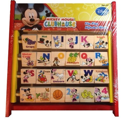 Disney Mickey Mouse Flip Flop Alphabet Blocks