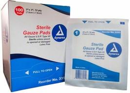 """Dynarex Gauze Pad 3"""" x 3"""" - 200 Pieces MS42130 - $16.94"""