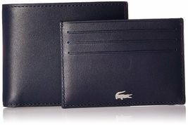 Lacoste Premium Men's FG Small Billfold Wallet Credit Card Holder NH1994FG image 9