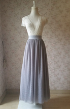 Light gray tulle skirt 1 thumb200