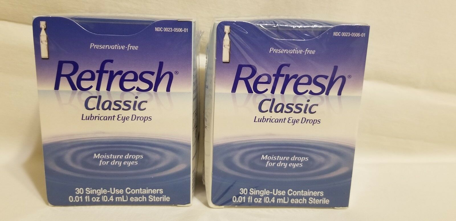 Refresh Classic Lubricant Eye Drops Qty 120 Single Use Exp 11/19 by Allergan
