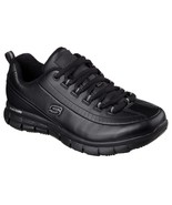 76550 Wide Width Black Skechers shoes Women Memory Foam Work Slip Resist... - $59.99