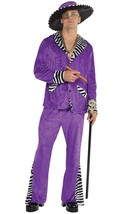 Amscan  Sugar Daddy Pimp Halloween Costume for Men, Standard, with Hat - $79.19