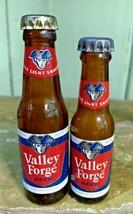 2 VINTAGE Valley Forge MINI GLASS BEER BOTTLE - $19.99