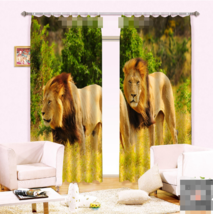 3D Forest Zoo 0350 Blockout Photo Curtain Print Curtains Drapes Fabric Window UK - $145.49+