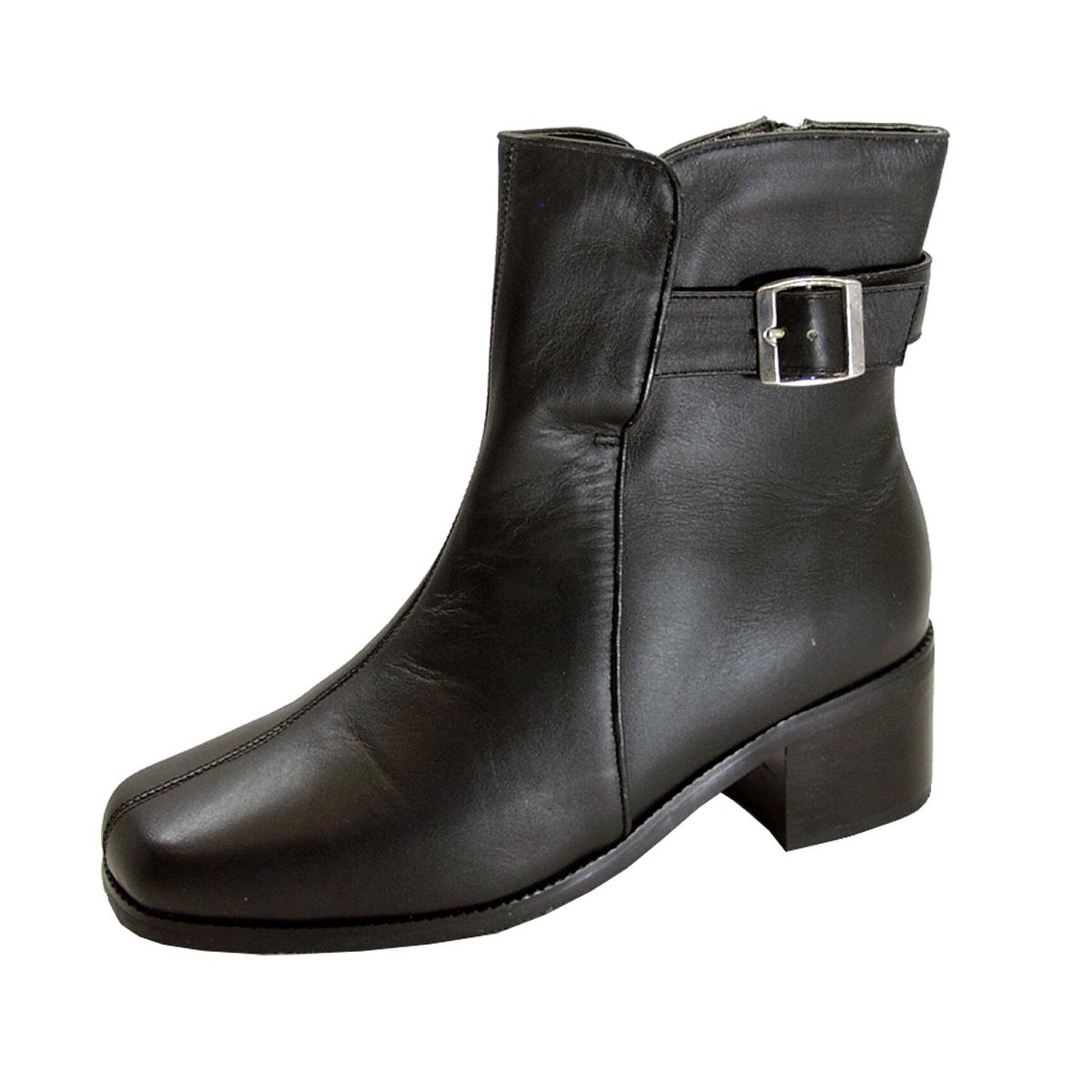 PEERAGE Meryl Women's Wide Width Leather Dress Bootie with Zipper - $44.95