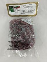 Twinkle Trim Holographic Trim Red Silver Angel Hair 1 oz Soft Snow - $13.60