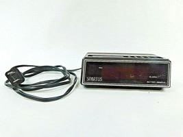 Vintage Spartus 1108 Red LED Display Wood Grain Alarm Clock Retro 1980s TESTED - $20.85
