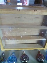 15 Wheaton Mini  Carnival President Bottles with Oak Display Case image 2
