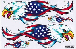 D512 Eagle Wing Bird Sticker Decal Racing Tuning Size 27x18 cm / 10x7 inch - $3.49