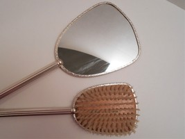 Vintage Bird Picture Hand Mirror & Brush Made in England image 6