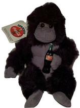 "Vintage 1996 Coca-Cola Brand Plush Collection Gorilla 10"" Stuffed Animal W/ Tags - $12.59"