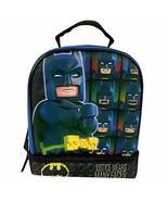 """Lego Batman 9.5"""" Dual Compartment Lunch Bag with Cape bonus Detachable C... - $15.21"""