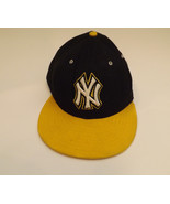 NY Yankees 59Fifty New Era Fitted Cap Hat Size 7 1/4 7.25 Black Gold Yellow - $17.99