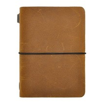 """Refillable Travelers Notebook Vintage Small Leather Journal, 3.9"""" x 5.2""""... - $21.64"""