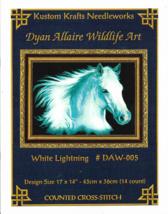Counted Cross Stitch Pattern-WHITE LIGHTNING-Dyan Allaire Wildlife Art-1... - $9.46