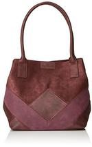 TOM TAILOR Shopper Damen Miri Geo, 17.5x28x43 cm,Tasche Damen (Rot (Wine)) - $50.04