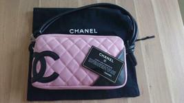 Auth Chanel Shoulder Bag Pink Leather Matelasse Logo Inner zipper pocket B5223 - $895.95