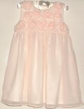 GIRLS PINK FLOWER DRESS SIZE 24 MONTHS - $5.00