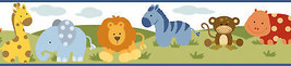 Simba White Jungle Safari Cartoons Wallpaper Border Chesapeake BBC94181B - $22.76