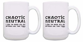 Funny Gamer Mugs Chaotic Neutral Keep All of My Options on the Table 2 Pack 15-o image 1