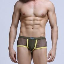 Sexy men's underwear mesh holes see-through boxer briefs underpants #07PJ - $15.00