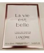 Lancôme 3-piece La Vie Est Belle Eau De Parfum Rechargeable Purse Spray ... - $59.39