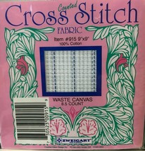 """Zweigart's 8.5 Count Waste Canvas for Cross Stitch 9"""" x 9""""  6 Packages - $11.35"""