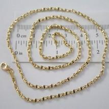Chain Yellow Gold White 18K Marinara Crosspiece 40 45 50 60 cm Thickness 2.5 MM image 1