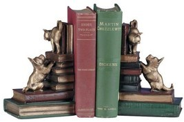 Bookends Bookend Dog And Cat Playful Friends Dogs Cast - €150,14 EUR