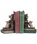 Bookends Bookend Dog And Cat Playful Friends Dogs Cast - £140.67 GBP