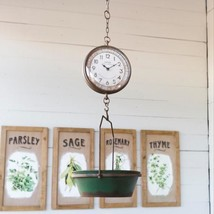 Green Hanging Grocery Scale Clock - £45.39 GBP