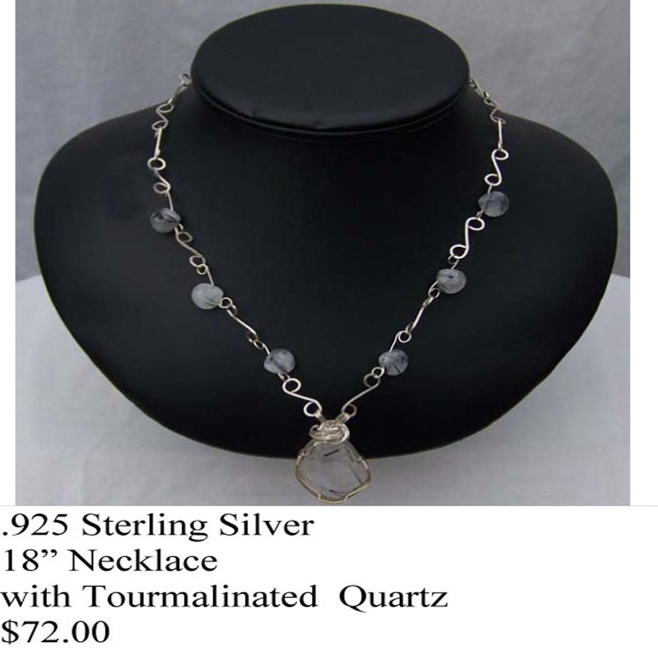 S.S.Tourmalinated Quartz  Necklace (WN46)